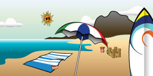 Sonnencreme für das Baby bereithalten